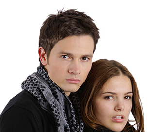 Male and Female Modeling couple